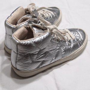 NWT! Zara kids high top metallic sneakers